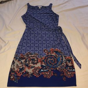 A Pea in the Pod blue printed sundress